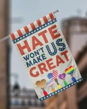 "Hate Won't Make Us Great 11.5""x17.5"" Garden Flag aos-garden-flag-11-5-x-17-5-lifestyle-front-17"
