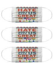 Hate Won't Make Us Great Cloth Face Mask - 3 Pack thumbnail