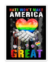 LGBT - America Great Flag Sticker - Single (Vertical) thumbnail