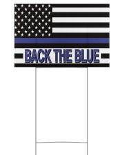 Police - Back The Blue 18x12 Yard Sign front