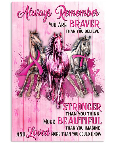 Breast Cancer Horse You Are Stronger