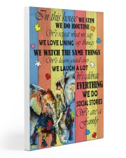 Autism Elephant 20x30 Gallery Wrapped Canvas Prints thumbnail