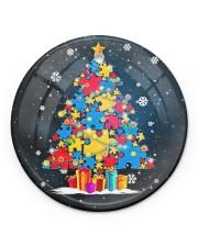Autism Christmas Tree Ornament Circle ornament - single (porcelain) front