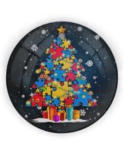 Autism Christmas Tree Ornament Circle Ornament (Wood tile
