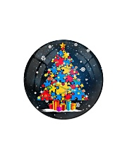 Autism Christmas Tree Ornament Circle Magnet tile