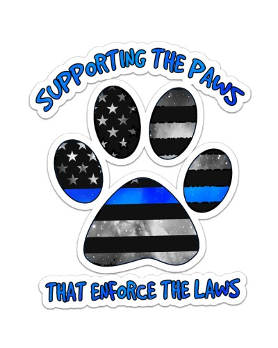 Blue - Supporting The Paws Sticker
