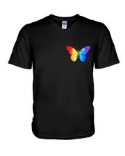 LGBT Spread The Love 2 Sides  V-Neck T-Shirt tile