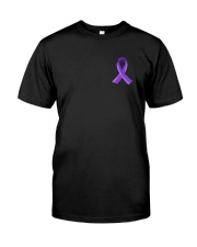 Cystic Fibrosis Awareness Flag Leopard 2 Sides Classic T-Shirt front