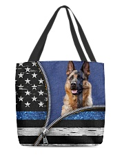 German Shepherd Back The Blue Tote  All-over Tote back
