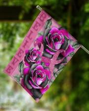 "Breast Cancer - Believe 11.5""x17.5"" Garden Flag aos-garden-flag-11-5-x-17-5-lifestyle-front-15"