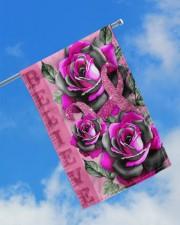 "Breast Cancer - Believe 11.5""x17.5"" Garden Flag aos-garden-flag-11-5-x-17-5-lifestyle-front-16"