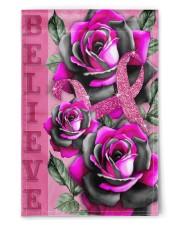 """Breast Cancer - Believe 11.5""""x17.5"""" Garden Flag front"""