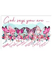 Breast Cancer - God Says You Are 17x11 Poster front