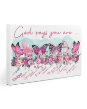 Breast Cancer - God Says You Are Gallery Wrapped Canvas Prints tile