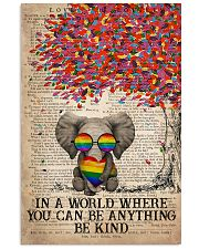 LGBT Elephant In A World Where You Can Be Anything 11x17 Poster front