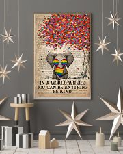 LGBT Elephant In A World Where You Can Be Anything 11x17 Poster lifestyle-holiday-poster-1