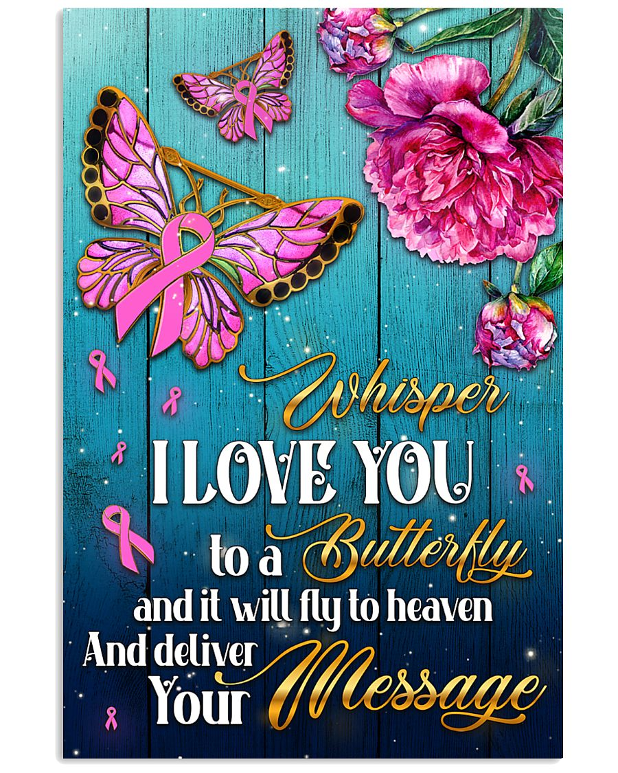 Breast Cancer Butterfly Messages   11x17 Poster