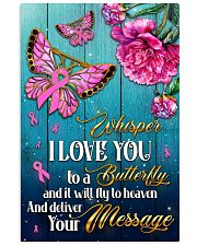 Breast Cancer Butterfly Messages   11x17 Poster front