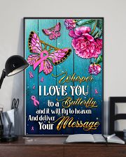 Breast Cancer Butterfly Messages   11x17 Poster lifestyle-poster-2