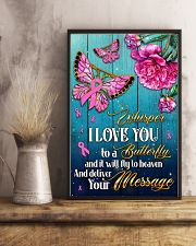Breast Cancer Butterfly Messages   11x17 Poster lifestyle-poster-3