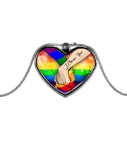LGBT I Choose You Necklace - D - Heart Metallic Heart Necklace front
