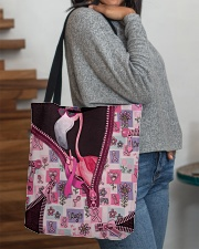 Flamingo - Breast Cancer Zip Tote All-over Tote aos-all-over-tote-lifestyle-front-09