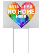 Hate Has No Home Here Heart Yard Sign 24x18 Yard Sign back