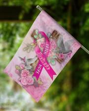 """Breast Cancer Faith Hope Believe Flag 11.5""""x17.5"""" Garden Flag aos-garden-flag-11-5-x-17-5-lifestyle-front-15"""