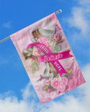 """Breast Cancer Faith Hope Believe Flag 11.5""""x17.5"""" Garden Flag aos-garden-flag-11-5-x-17-5-lifestyle-front-16"""