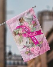 """Breast Cancer Faith Hope Believe Flag 11.5""""x17.5"""" Garden Flag aos-garden-flag-11-5-x-17-5-lifestyle-front-17"""