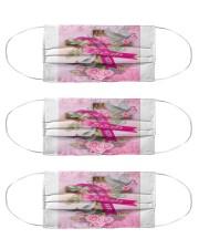 Breast Cancer Faith Hope Believe Flag Cloth Face Mask - 3 Pack thumbnail