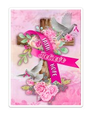Breast Cancer Faith Hope Believe Flag Sticker - Single (Vertical) thumbnail