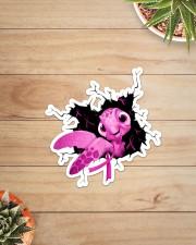 Turtle Breast Cancer Crack Sticker - Single (Vertical) aos-sticker-single-vertical-lifestyle-front-07
