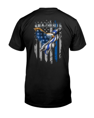 Eagle Back The Blue 2 Sides Shirts