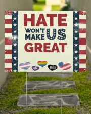 Lgbt - Hate Won't Make US Great 24x18 Yard Sign aos-yard-sign-24x18-lifestyle-front-07