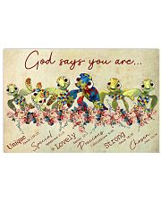 Autism God Say You Are Turtle  17x11 Poster front