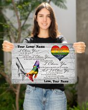 LGBT - I Choose You Customized Name 17x11 Poster poster-landscape-17x11-lifestyle-19