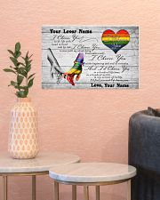 LGBT - I Choose You Customized Name 17x11 Poster poster-landscape-17x11-lifestyle-21