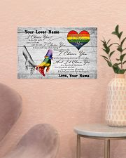 LGBT - I Choose You Customized Name 17x11 Poster poster-landscape-17x11-lifestyle-22