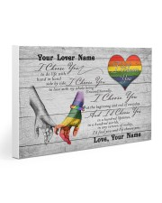 LGBT - I Choose You Customized Name 30x20 Gallery Wrapped Canvas Prints thumbnail