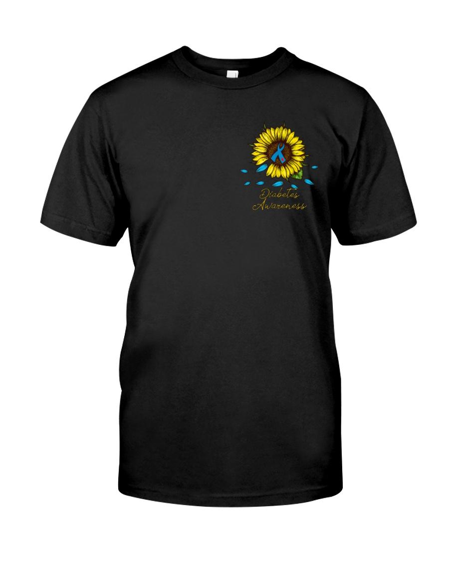 Diabetes Sunflower Leopard 2 Sides Classic T-Shirt