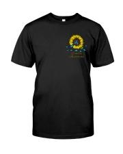 Diabetes Sunflower Leopard 2 Sides Classic T-Shirt front