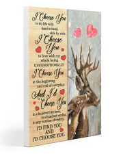 Deer - I Choose You Poster 20x30 Gallery Wrapped Canvas Prints thumbnail