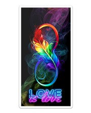 LGBT Feather Love Is Love Phone Case Sticker - Single (Vertical) thumbnail
