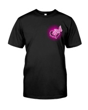 Breast Cancer God Strengthens Me 2 Sides Classic T-Shirt front