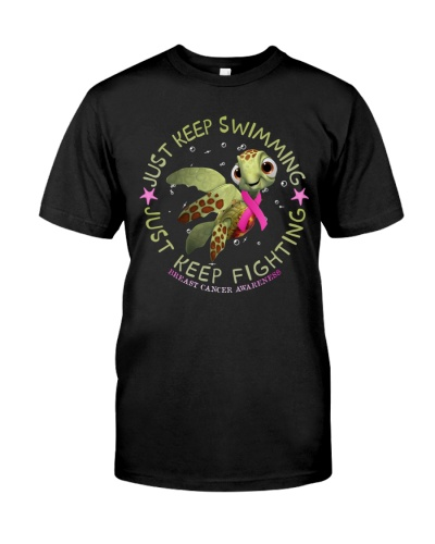 Breast Cancer And Turtle - Just Keep Fighting