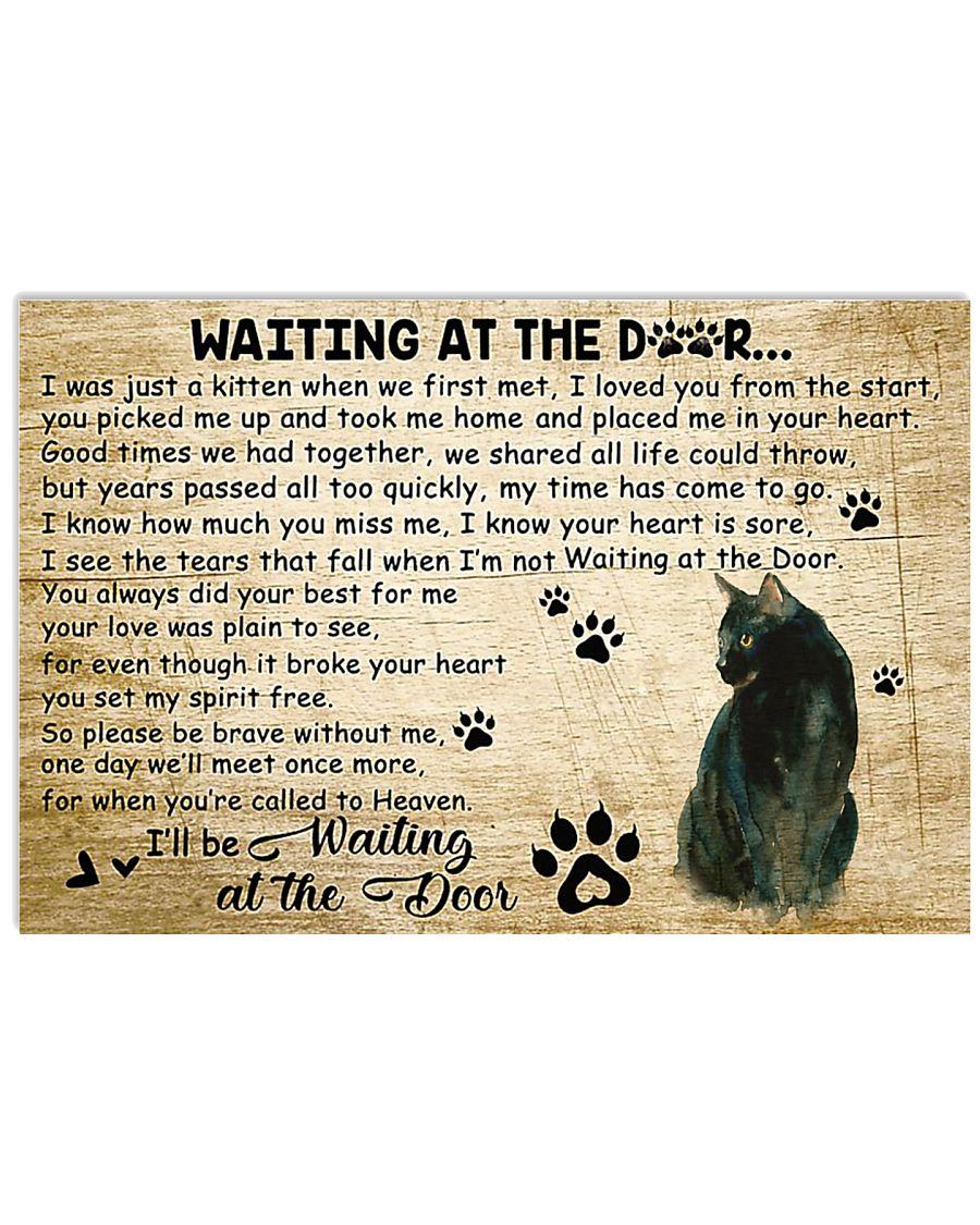 Cat - Waiting At The Door 17x11 Poster