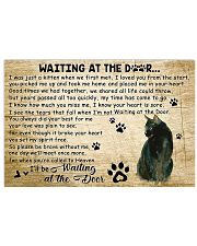 Cat - Waiting At The Door 17x11 Poster front
