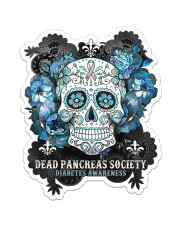 Diabetes Dead Pancreas Society St Sticker - Single (Vertical) front