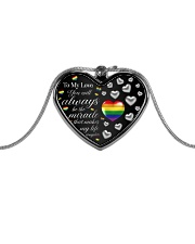 LGBT - To My Love Heart Necklace Metallic Heart Necklace front